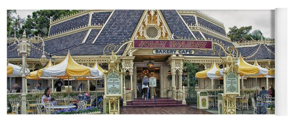 Jolly Holiday Cafe Main Street Disneyland 01 Yoga Mat