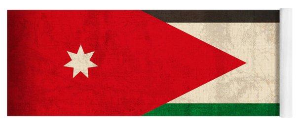 Jordan Flag Vintage Distressed Finish Yoga Mat