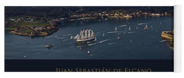 Juan Sebastian Elcano Departing The Port Of Ferrol Yoga Mat