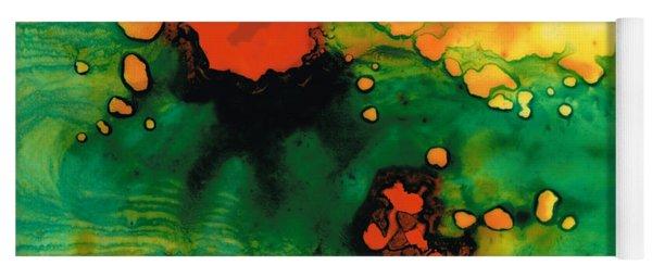 Jubilee - Abstract Art By Sharon Cummings Yoga Mat