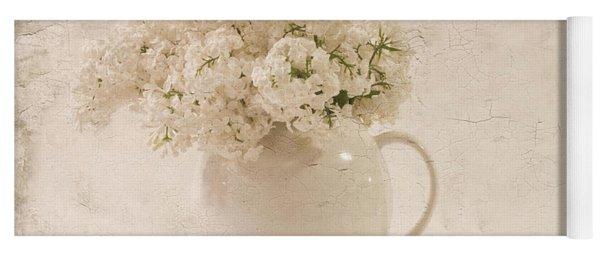 Jug Of White Lilacs Yoga Mat