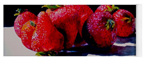 Juicy Strawberries Yoga Mat