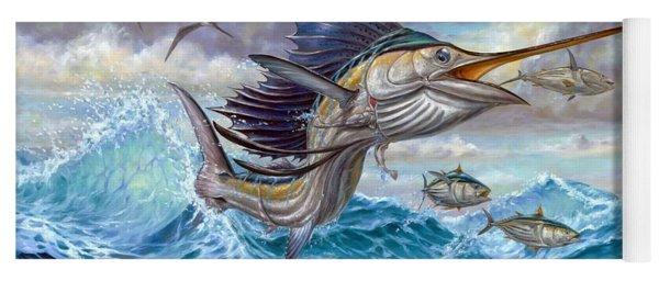 Jumping Sailfish And Small Fish Yoga Mat