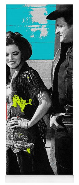 June Carter Cash Johnny Cash In Costume Old Tucson Az 1971-2008 Yoga Mat