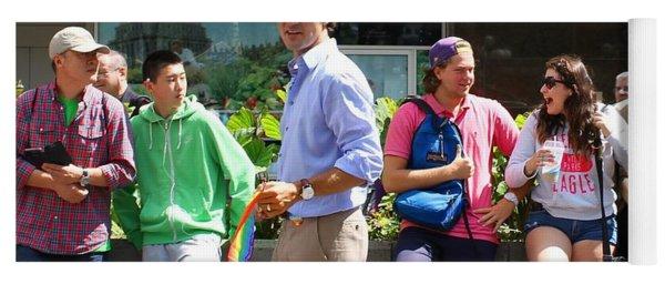 Justin Trudeau Gay Pride Montreal Yoga Mat
