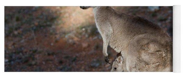 Kangaroo And Joey Yoga Mat