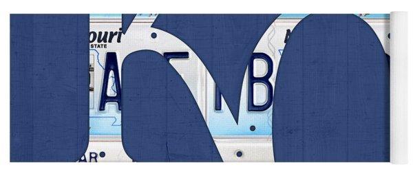 Kansas City Royals Recycled License Plate Art Baseball Logo Yoga Mat