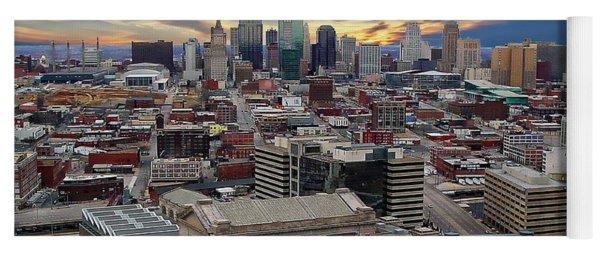 Kansas City Skyline Yoga Mat