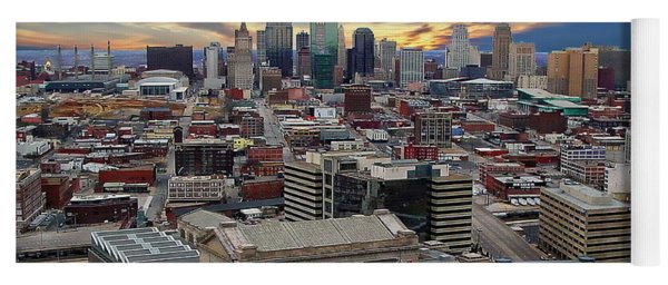 Kansas City Skyline Yoga Mat