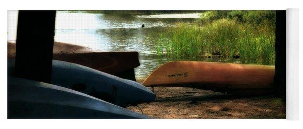 Kayaks On The Shore Yoga Mat