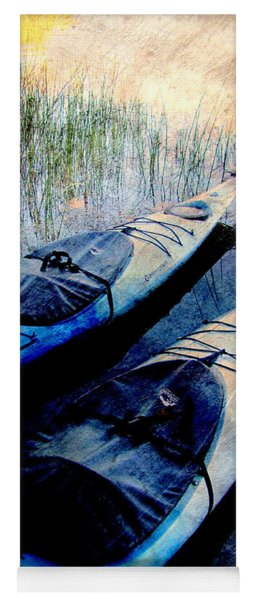 Kayaks Resting W Metal Yoga Mat