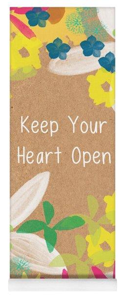 Keep Your Heart Open Yoga Mat