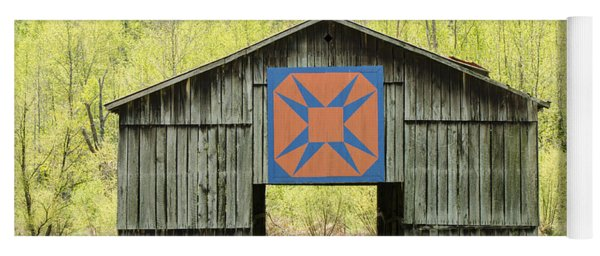 Kentucky Barn Quilt - Happy Hunting Ground Yoga Mat