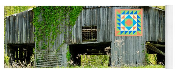 Kentucky Barn Quilt - Thunder And Lightening Yoga Mat