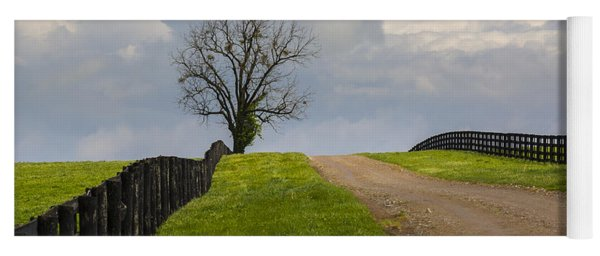 Kentucky Horse Farm Road Yoga Mat