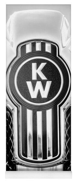 Kenworth Truck Emblem -1196bw Yoga Mat