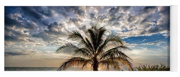 Key West Florida Lone Palm Tree  Yoga Mat