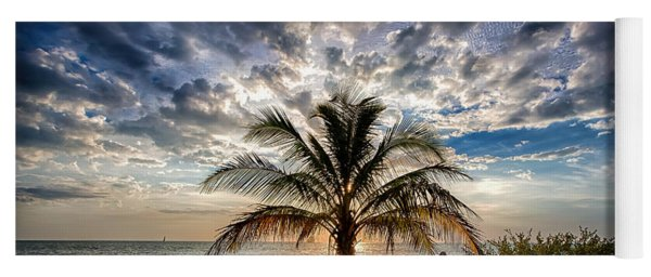Key West Florida Lone Palm Tree  Yoga Mat