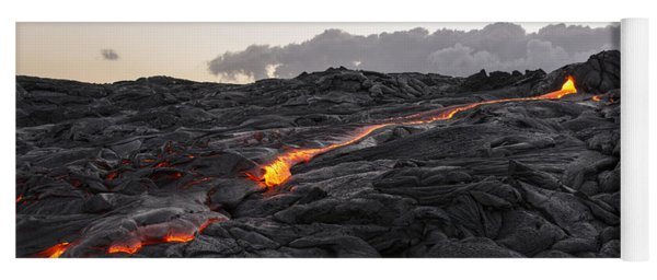 Kilauea Volcano 60 Foot Lava Flow - The Big Island Hawaii Yoga Mat