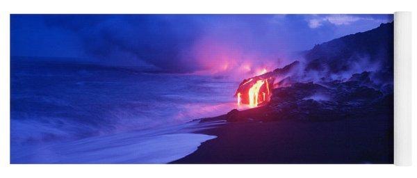 Kilauea Volcano, Hawaii, Usa Yoga Mat