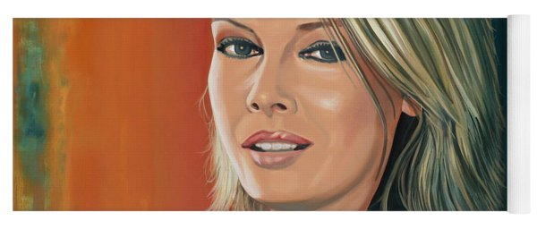 Kim Wilde Painting Yoga Mat