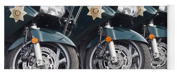 King County Police Motorcycle Yoga Mat