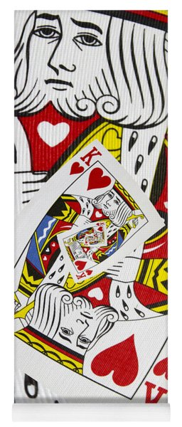 King Of Hearts Collage Yoga Mat