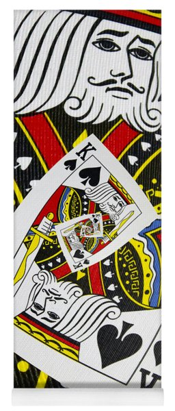 King Of Spades Collage Yoga Mat