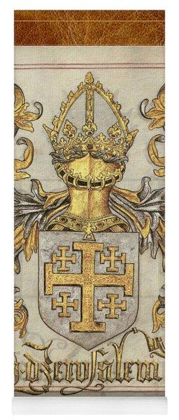 Kingdom Of Jerusalem Medieval Coat Of Arms  Yoga Mat