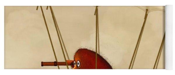 Kiwi Bird Kev's Airship Yoga Mat