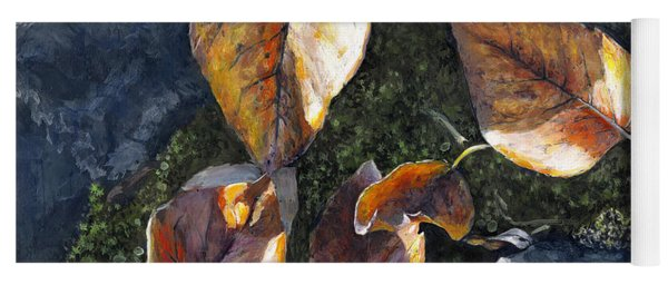 Knik River Autumn Leaves Yoga Mat
