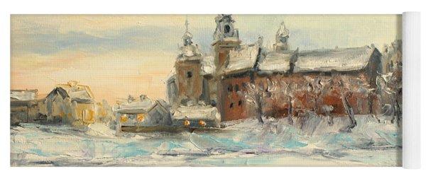 Krakow - Wawel Castle Winter Yoga Mat