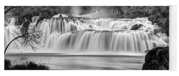 Krka Waterfalls Bw Yoga Mat