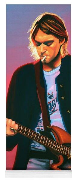 Kurt Cobain In Nirvana Painting Yoga Mat