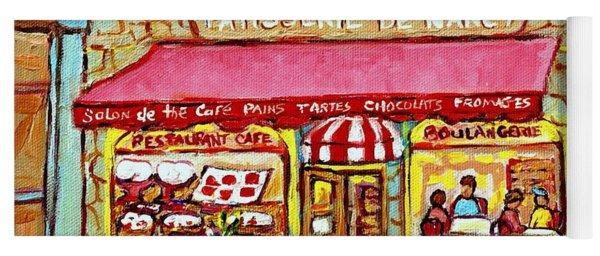 La Patisserie De Nancy French Pastry Boulangerie Paris Style Sidewalk Cafe Paintings Cityscene Art C Yoga Mat