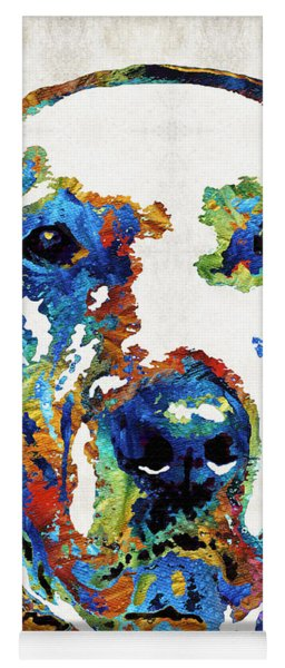 Labrador Retriever Art - Play With Me - By Sharon Cummings Yoga Mat
