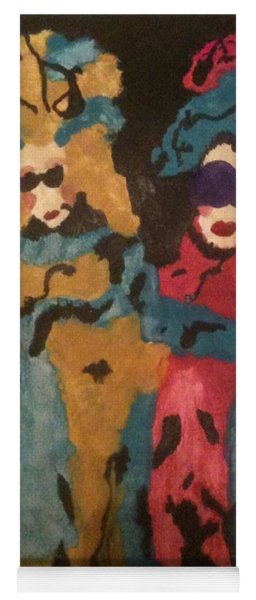 Yoga Mat featuring the painting Ladies Of Flair House by Gina Bonelli