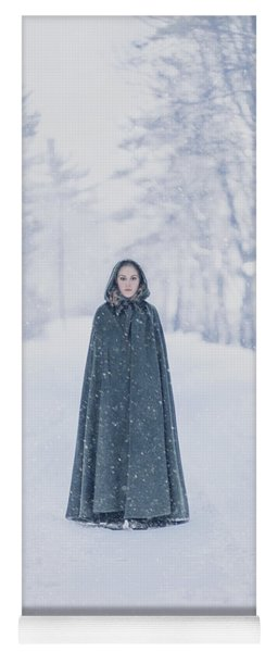Lady Of The Winter Forest Yoga Mat
