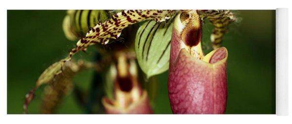Lady Slipper Orchid Twins Yoga Mat