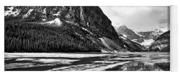 Lake Louise - Black And White #3 Yoga Mat