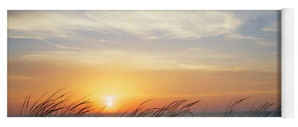 Lake Michigan Sunset With Dune Grass Yoga Mat