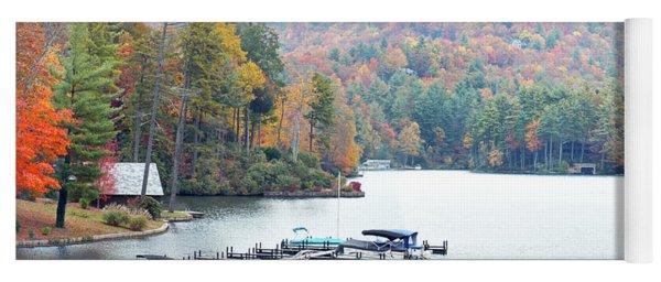 Lake Toxaway In The Fall Yoga Mat