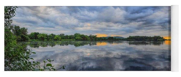 Lake Wausau Summer Sunset Panoramic Yoga Mat