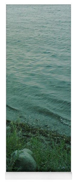 Yoga Mat featuring the photograph Lakeside At Dusk by Gina Bonelli