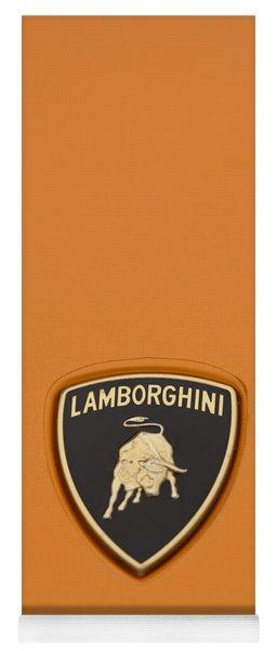 Lambo Hood Ornament Orange Yoga Mat
