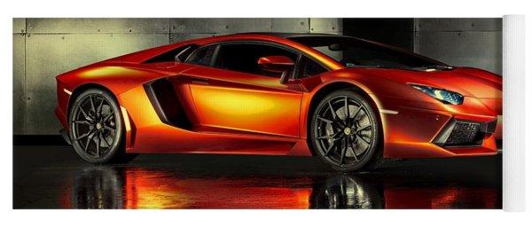Lamborghini Aventador Yoga Mat