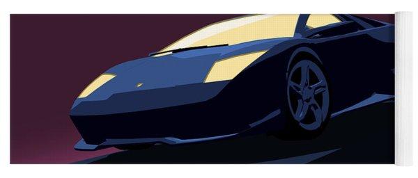 Lamborghini Murcielago - Pop Art Yoga Mat
