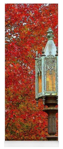 Lamp Post In Fall Yoga Mat