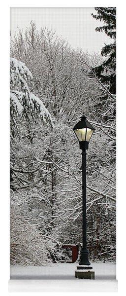 Lamp Post In Winter Yoga Mat