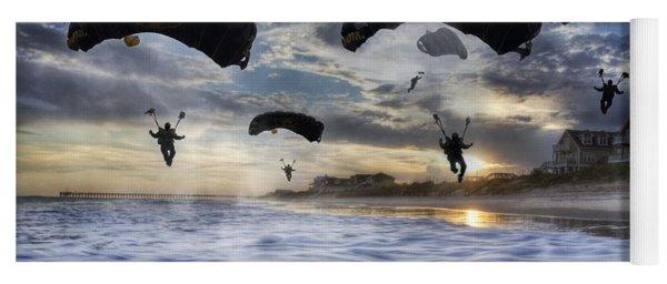 Landing At Sunset Yoga Mat